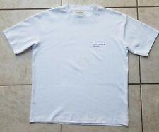 NWOT Drole de Monsieur Pret a Porter Ribbed Crew Collar White Tee Shirt Size S