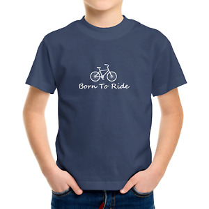 Toddler Kids Tee T-Shirt Infant Baby Bodysuit Romper Clothes Born To Ride Bike