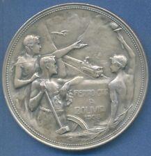*RAILWAY HUGE Art Nouveau Nude male 1908 Bolivia Argentina medal by GOTTUZZO