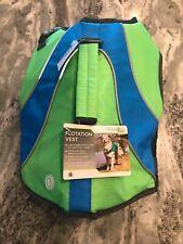 Petco Good2Go Dog Flotation Vest Green/Blue/Grey Size Small *NWT*