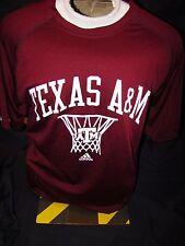 Nwt Mens Adidas Texas A&M University Aggies Basketball Loose Fit Shirt Medium !
