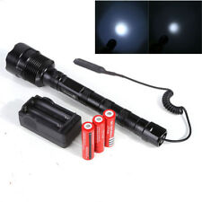 6000 Lumen Rechargeable LED Tactical Flashlight with 18650 Battery Most Powerful