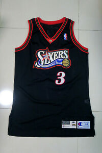 Allen Iverson 97-98 76ers Sixers Game Worn Used Issued Road Jersey Pro Cut