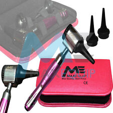 MINI OTOSCOPE fibra ottica Esame Medico Diagnostico Set METALLICA PEARL PINK