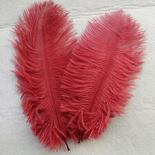 """5 pcs RED WINE Ostrich Feathers Millinery and Crafts 6""""-8"""" 20 x 25cm"""