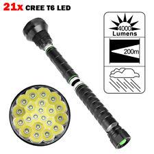 NEW 4000LM XM-L LED 21x T6 Super Flashlight Torch Lamp Light 5 Mode 26650 18650
