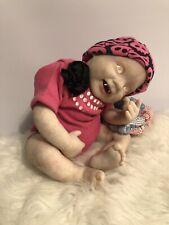 "Reborn Fantasy Albino Vampire Baby Ooak 18"" Punkin From Bb Artist Gingerlynn"