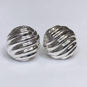 David Yurman 925 Sculpted Cable Earrings