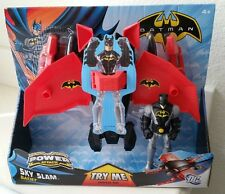 "Batman Power Attack Sky Slam Bat Jet Vehicle with 6"" Batman Figure DC Comics New"