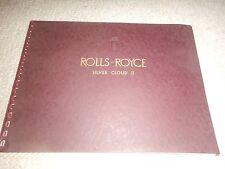 Rolls Royce Silver Cloud II factory brochure and poster