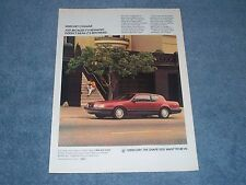 "1987 Mercury Cougar XR-7 Vintage Ad ""Just Because it's Reshaped..."""