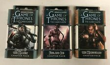 Game of Thrones Card Game Fire & Ice, Reach of Kraken + Kingsguard -Lot of 3 Pks