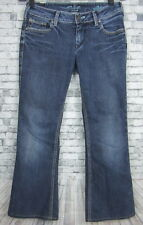 Womens Silver Aiko Bootcut Low Rise Jeans Stated Size (26x31) Stretch