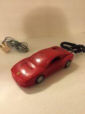 Rare Red Ferrari Testarossa Telephone Dialfone Landline Phone Push Home Racecar