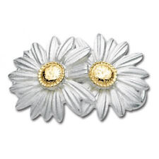 LeStage Convertible Double Daisy Clasp 14K Gold & Sterling Silver