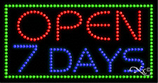 """New """"Open 7 Days"""" 32x17 Solid/Animated Led Sign w/Custom Options 21103"""
