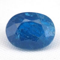 TOP COLOR APATITE : 1,69 Ct Natürliche Blau Apatit aus Madagaskar