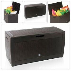 Garten Aufbewahrungsbox Auflagenbox Gartentruhe Kissenbox Gartenbox Braun