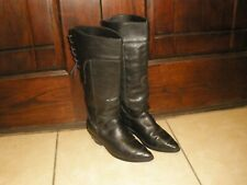 "Vintage Womens Harley Davidson 98443 LACE UP 16"" Tall Motorcycle Boots Sz 9"