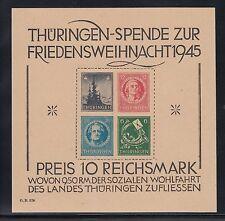 SBZ Weihnachtsblock 1945** Michel Block 2 t Attest (S13168)