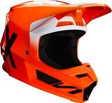 Fox V1 Casco De Carrera Motocross MX Offroad Bon Flo Naranja adultos