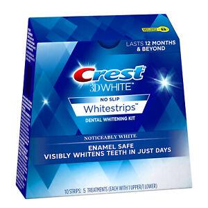 Crest 3D White Enamel Safe Whitestrips, 5 Treatments 10 Strips
