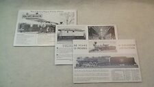 1933 World's Fair Century of Progress Burlington Locomotives Lot of 3 Postcards
