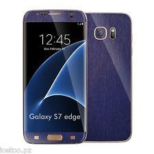 Für Samsung Galaxy s7 Edge 3d gebürstetes Metall Effekt Decal Wrap Sticker Haut