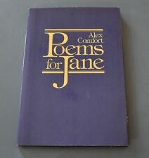 Alex Comfort  Poems for Jane  (1979, Book) Hardback / Hardcover