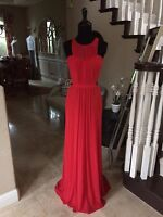 $299 NWT RED ABBI VONN BY LA FEMME PROM/PAGEANT/FORMAL DRESS/GOWN #0188
