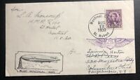 1930 Montreal Canada to Germany R-100 Zeppelin Airmail Cover New York USA