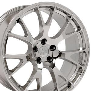 """OEW Fits  20"""" Wheel Dodge Chrysler Challenger Hellcat DG15 Chrome 2528 20x9"""