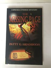 The Missing Page, Brenda Strange Mystery, Patty G. Henderson, 1st EDITION, 2005