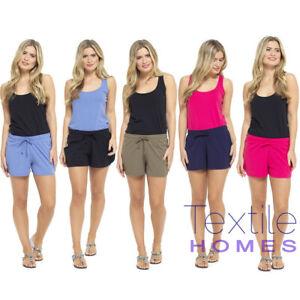 Womens Summer Holiday Shorts Ladies Jersey Cotton Hotpants Beach Hot Pant Sport