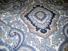 BLUE/WHITE/TAN PAISLEY AND MEDALLION KING SHAMS NEW NO PACKAGE