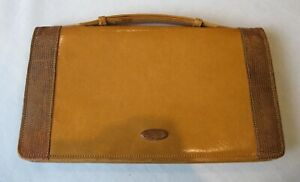Vintage leather handbag, beautiful small clutch bag with extending strap.