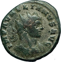 AURELIAN 272AD Siscia Authentic Genuine Ancient Roman Coin JUPITER Globe i66396