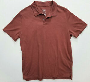 Mossimo Men Polo Light Brown T-Shirt Size Large Short Sleeve Athletic Fit