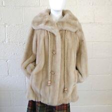 e1a54f9f6078a Faux Pearl Mink Coat Winter Fur Jacket Grandella styled by Sportowne Vtg  Pin Up