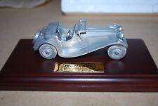 Matchbox 1936 SS100 Jaguar Pewter Model on Display Base 1/43