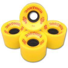 DOGTOWN SKATEBOARD WHEELS - YELLOW - 59MM 84A - FAST SKATE LONGBOARD CRUISER NEW