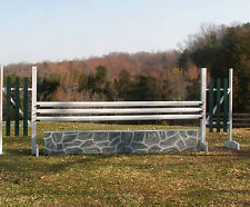 """Horse Jumps Wood Panel Stone Wall Set/2 - 24"""" Tall RP $410"""
