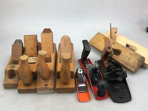 Alte Konvolut 9x Holz Metall Marken Hobel Ulmia Lux Witte ua.