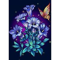 5D Full Drill DIY Diamond Painting Purple Embroidery Cross Stitch Kits Art Craft