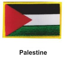 """PALESTINE FLAG EMBROIDERED PATCH - IRON-ON - NEW 2.5 x 3.5"""" FREE SHIPPING"""