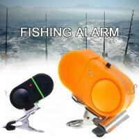Electronic LED Light Fishing Bite Sound Alarm Alert Clip Bell Fishing neu J9O8