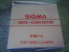 Sigma Grandangolo/Tele Converter per Videocamera