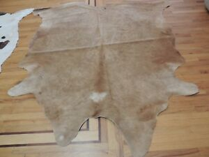 New COW HIDE Rug 6x8, 6x9 Hair on Natural leather Area Decor upholstered Brown