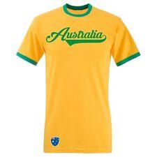 Australien Retro Ringer T-Shirt Trikot - Gelb