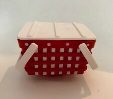 Red Picnic Basket for 18 inch Doll American Girl Food Accessory Widest Variety